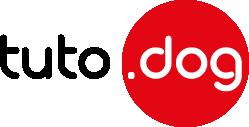 Logo tutodog noir rouge vecto 249 x 127